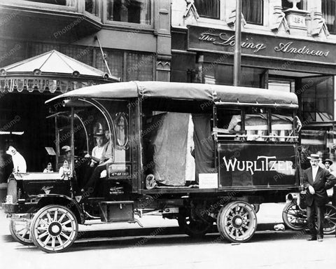 Wurlitzer Delivery Truck Vintage 8x10 Reprint Of Old Photo