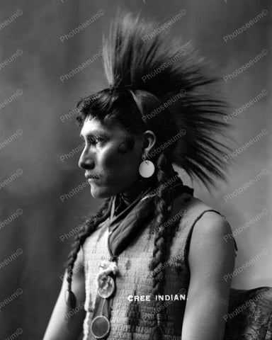 Cree Indian Vintage 8x10 Reprint Of Old Photo - Photoseeum