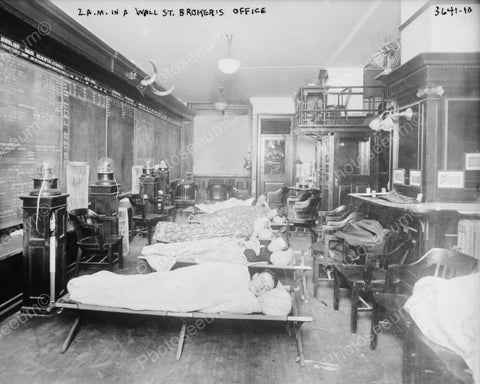 Wall Street Executives Nap Time! 1900s 8x10 Reprint Of Old Photo
