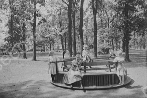 Children On Merry-Go-Round! Michigan 4x6 Reprint Of Old Photo