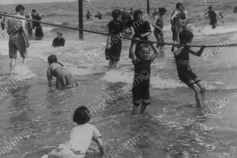 Coney Island Swimmers Enjoy Surf! 1890s 4x6 Reprint Of Old Photo - Photoseeum