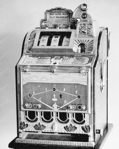 Mills Baseball Vendor Slot Machine 1929 Vintage 8x10 Reprint Of Old Photo