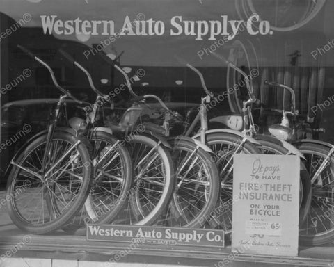 Bicycle Shop 1942 Vintage 8x10 Reprint Of Old Photo