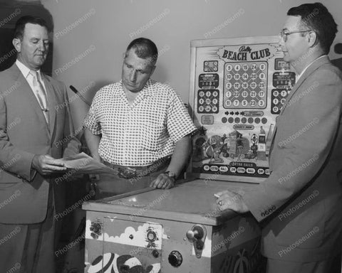 Bally Beach Club Bingo Pinball Machine Vintage 8x10 Reprint Of Old Photo