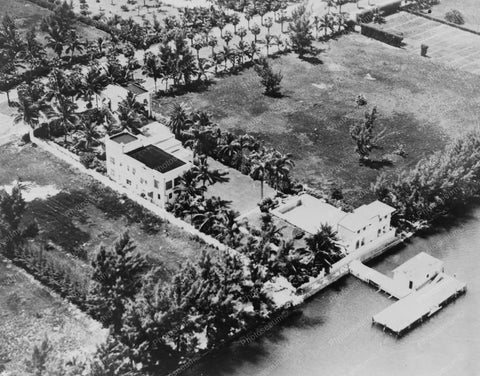 Aerial Al Capones Florida Property 8x10 Reprint Of Old Photo