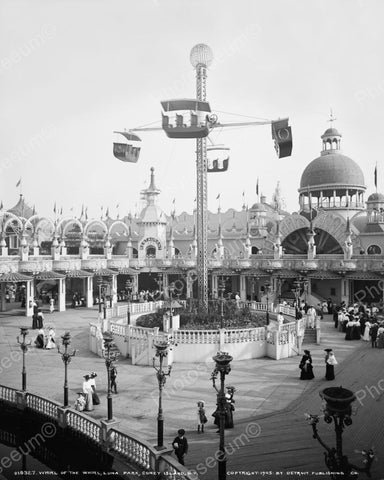 Whirl Of The Whirl Ride Coney Island 1905 Vintage 8x10 Reprint Of Old Photo