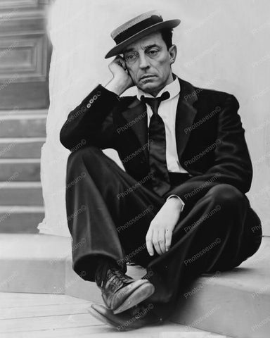 Buster Keaton In Wistful Pose 1930s 8x10 Reprint Of Old Photo