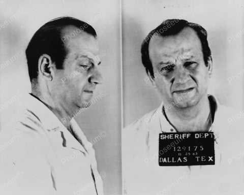 Jack Ruby Police Mug Shot 8x10 Vintage 1960s Reprint Old Photo