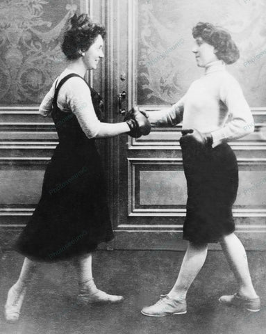 Women Boxing 1912 Vintage 8x10 Reprint Of Old Photo - Photoseeum