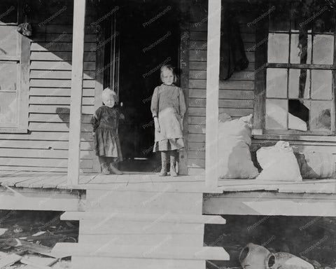 Children North Carolina Porch 1900s 8x10 Reprint Of Old Photo