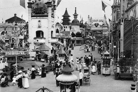 Coney Island NY Luna Park Midway 1910s 4x6 Reprint Of Old Photo