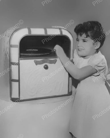 Lindstrom Toy Jukebox 1948  Vintage 8x10 Reprint Of Old Photo