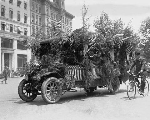 Tree Truck Float 1919 Vintage 8x10 Reprint Of Old Photo