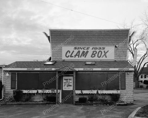 Clam Box Diner Restaurant 1900s 8x10 Reprint Of Old Photo