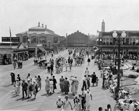 Asbury Park Pier Tea Room Vintage  8x10 Reprint Of Old Photo