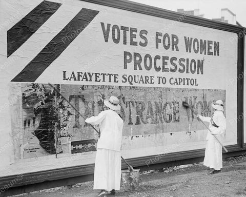 Votes For Women Procession 1914 8x10 Reprint Of Old Photo - Photoseeum