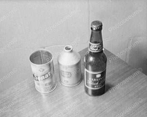 Beer Cone Top Metal Can &  Bottle 1940s 8x10 Reprint Of Old Photo