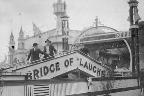 Coney Island Luna Park Bridge of Laughs 4x6 Reprint Of Old Photo