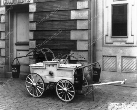 Antique Fire Wagon Early 1911 8x10 Reprint Of Old Photo