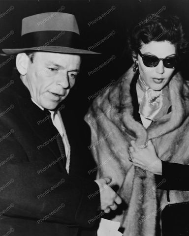 Frank Sinatra With 2nd Wife Actress Ava 8x10 Reprint Of Old Photo