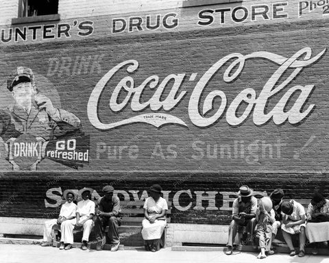 Georgia Main Street Coca Cola Sign 1930s 8x10 Reprint Of Old Photo