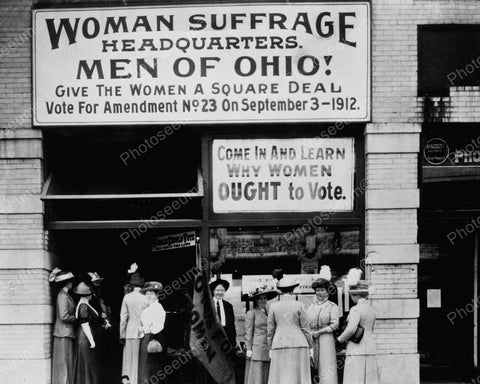 Men Of Ohio Give Women A Square Deal 1912 Vintage 8x10 Reprint Of Old Photo - Photoseeum