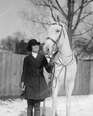 Dressage Horseback Rider 1922 Vintage 8x10 Reprint Of Old Photo