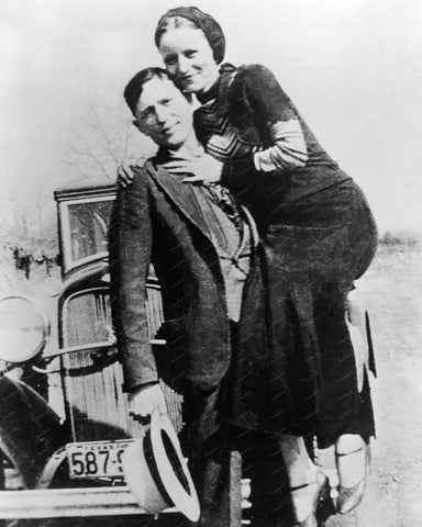 Bonnie And Clyde Vintage 8x10 Reprint Of Old Photo