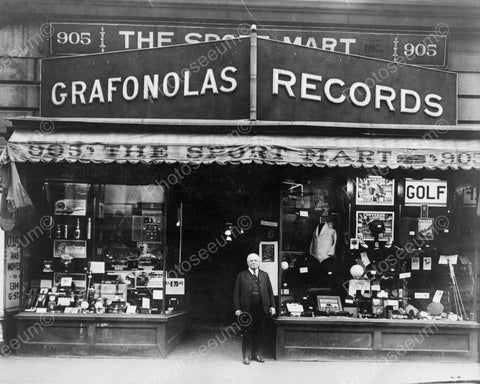 Granfonolas Record Store Vintage 8x10 Reprint Of Old Photo