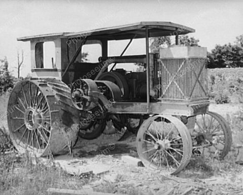 Antique Steam Tractor Oklahoma 1930s 8x10 Reprint Of Old Photo