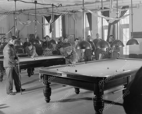 Australian Soldiers Play Pool 1940s 8x10 Reprint Of Old Photo