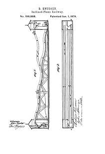 USA Patent Rollercoaster Ride late 1800's Drawings