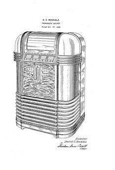 USA Patent Rockola 1930's Jukebox DE 20 Variation Drawings