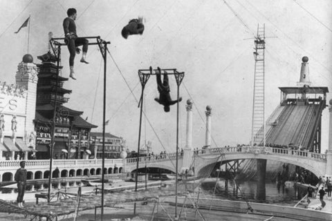 Coney Island Dreamland Trapeze 1900s 4x6 Reprint Of Old Photo