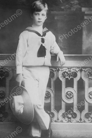 Young Sailor Boy Nostalgic Portrait 4x6 Reprint Of Old Photo