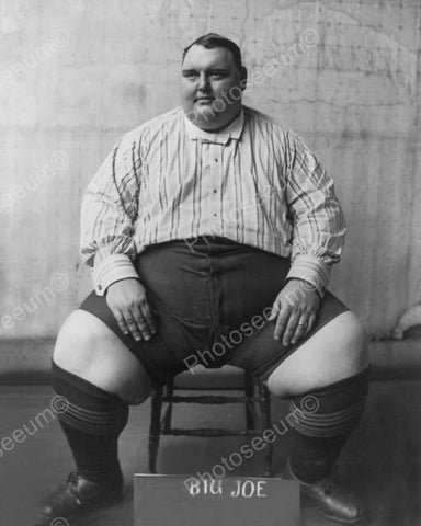 "Big Joe ""Biggest Man in the World"" 1900s 8x10 Reprint Of Old Photo"