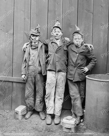 Coal Breaker Boys 1910 Vintage 8x10 Reprint Of Old Photo - Photoseeum