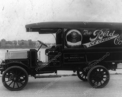 Antique Reid Ice Cream Co Truck 1900s Old 8x10 Reprint Of Photo