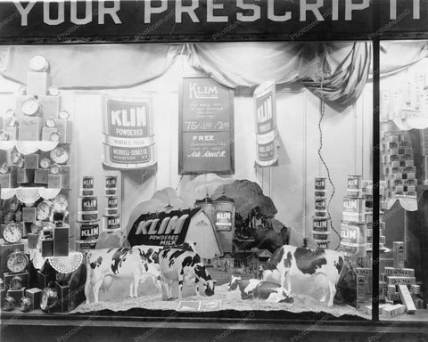 Kilm Powdered Milk Window Display 1920s 8x10 Reprint Of Old Photo