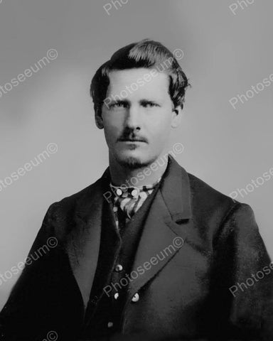 Wyatt Earp Portriat Vintage 8x10 Reprint Of Old Photo