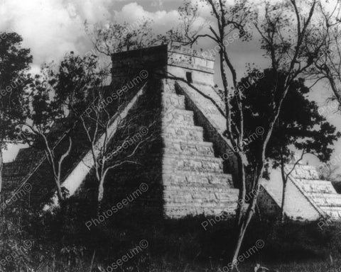 Chichen-Itza Vintage 8x10 Reprint Of Old Photo