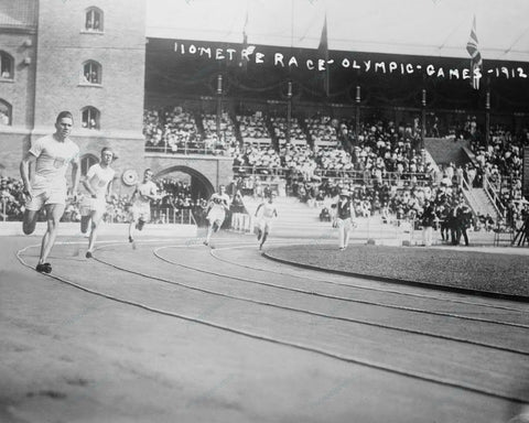110 Metre Race Olympic Games 1912 Vintage 8x10 Reprint Of Old Photo - Photoseeum