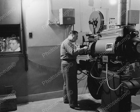 Antique Movie Theater Projector 1900s 8x10 Reprint Of Old Photo