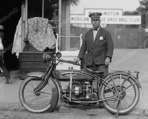 Henderson Police Motorcycle 1922 Vintage 8x10 Reprint Of Old Photo