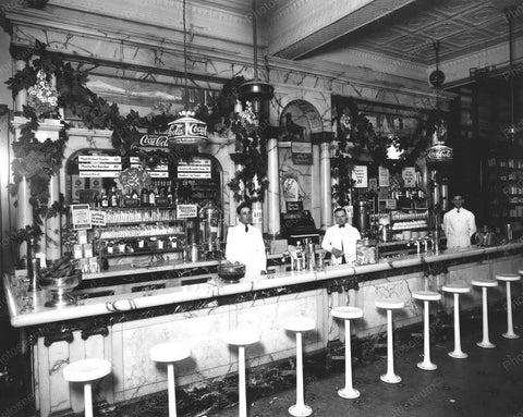 Coca Cola Soda Fountain Shop Trenton NJ 8x10 Reprint Of Old Photo