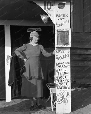 Fortune Teller Stella May Louisiana Fair 1930 Old Photo