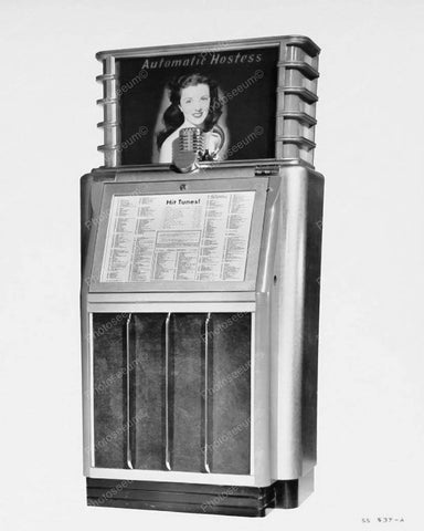 AMI Automatic Hostess Scopitone Jukebox 1941 Vintage 8x10 Reprint Of Old Photo - Photoseeum