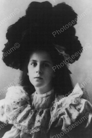 Young Lady With Huge Bouffant Hair! 4x6 Reprint Of Old Photo
