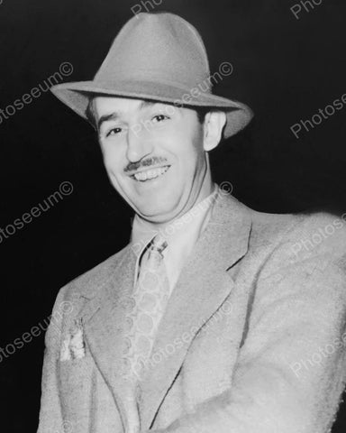 Walt Disney With Hat 1938 Vintage 8x10 Reprint Of Old Photo - Photoseeum