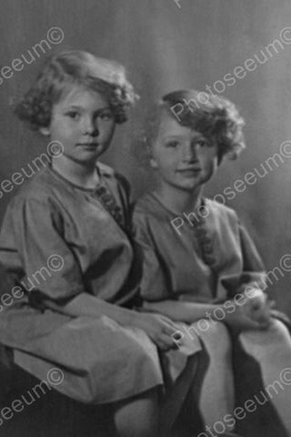 Curly Hair Sisters In Classic Portrait 4x6 Reprint Of Old Photo - Photoseeum